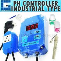 Wholesale PH Digital pH Controller Meter Tester with Optional HI LO Action Replaceable Electrodes amp Relay Contac pH Range