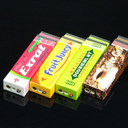 Wholesale Portable Luxury Windproof Chewing Gum Design Shaped Butane Flame Gas Cigarette Lighter
