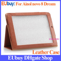 Wholesale New arrival leather Case for Ainol Novo8 discovery quad core Case inch IPS screen Tablet Filp Stand Cover