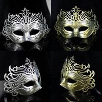 metal face mask - Metal Venetian Masquerade Masks Gold Venetian Masquerade Masks Gold Masquerade Masks Party Decoration Plastic Masks Half Face Mask