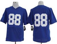 Football Men Short 2013 Hot Sale American Football Jerseys Big Apple Team Elite Jersey Hakeem Micks 88 Blue Kits Uniforms Super Bowl Jerseys