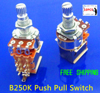 Wholesale NEW Tog B250K Linear Push Pull Pot Potentiometer Switch
