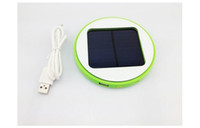 Cheap Round Brand New Window Solar Charger Mobile Cell Phone power bank 1800mAh Lithium Battery For iPhone Samsung HTC Free DHL Factory Price