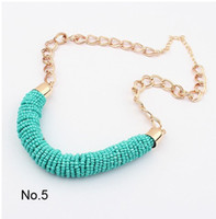 Wholesale Newest Chunky Chain Simple Necklace Jewelry for Women Lady Girl Colors Can Choose SF006