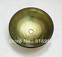 artistic glass bowls - newly Bathroom Artistic tempered Glass Vessel Vanity hand print color Sink bowl tree131