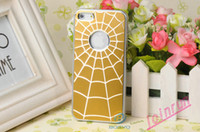 Wholesale 100pcs Luxury Metallic Spider Web Cobweb Case for New iPhone G Electroplated Lagging Back Cover DHL