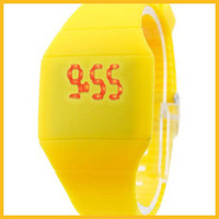 Wholesale LED silicone wristwatches multi color import movement silicone watches gift wristwatches LED Display Wristwatches