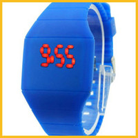 Wholesale LED silicone wristwatches import movement silicone watches gift wristwatches LED Display Wristwatches