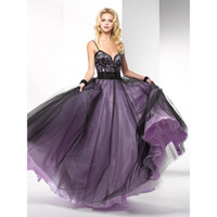 Wholesale Fabulous Sexy Prom Dress Simple A line Straps Black Floor Length Backless Crepes Lace Prom Evening Dress Gown