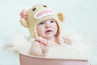 Crochet Hats Cotton KC20101-05 2013 Autumn And Winter Baby Hats Yellow Crochet for Infants Party Hats Retail Free Shipping