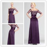 Taffeta Jewel Neckline Half Sleeve kingly purple jewel half sleeve sheath pleats peplum lace illusion hollow lace looks mother of the bride dresses