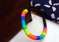 Beaded, Strands   Chinese style retro jewelry handmade original Chinese style colorful wax rope bracelet bracelet