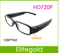 Wholesale New HD P Camcorder DVR Camera Eyewear Clear Glasses Video Recorder CAM FPS Hidden Camera