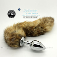 Wholesale Fox Tail Anal Plug Metal Butt Plug Anal Sex Toy For Men Women Adult Toy Stainless Steel Sex Toys