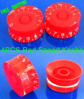 Wholesale New Red Les Paul Electric Guitar Speed Knobs