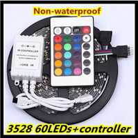 Wholesale Hot Sale RGB White warm white Bule Yellow Red Green leds non waterproof LED strip light m roll Keys IR Remote