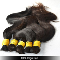 Wholesale A Best selling to no weft hair virgin Brazilian virgin bulk hair Body wave AAAAA Grade