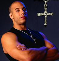 Wholesale FAST and FURIOUS Dominic Toretto s stainless cross pendant necklace Vin cheap jewelry