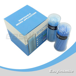 Wholesale 400 Dental Disposable Micro Applicator Brush Bendable Regular Blue Dia MM