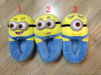 Wholesale Despicable Me Minions Plush Stuffed Slippers Cuddly Fluffy Collectible Jorge Dave Stewart inch