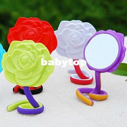 Wholesale 10X Rose Compact Cosmtic Mirror Cute Girl Makeup Mirror Gift