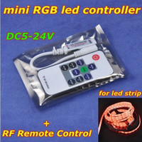 ac socket remote control - 4pcs New DC5 V Mini LED RGB Controller with Power Supply Socket RF Remote Control for SMD RGB Strip light