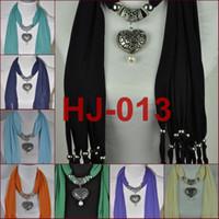pendant scarves - scarf jewelry pendant scarf Heart Pendant colour Summer scarf scarf pendant jewelry HJ