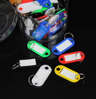 Wholesale Free Ship Pieces Mixed cm PVC D Lage Tag Travel Name Tag Card Tag Name Pocket Case With Keyring