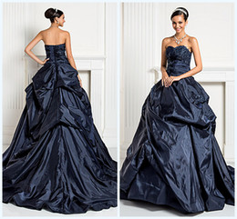 Wholesale 2013 Elegant Strapless Puff Taffeta Drapped Ball Grown With Appliques Quincaanera Dresses Aults Party Prom Dresses