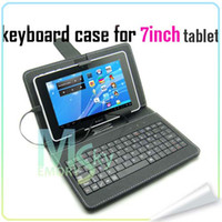 Wholesale Mirco Universal mini USB keyboard leather case stand for inch tablet pc Q88 A20 colors