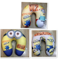 Wholesale new arrived Despicable Me Jorge Dave Stewart Children U Shaped Head Rest Micro Foam Beads Traveling Neck Pillow