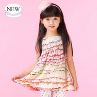 Wholesale Christmas Nova kid wear summer fashionable baby girls chiffon floral printed sleeveless jumper dress