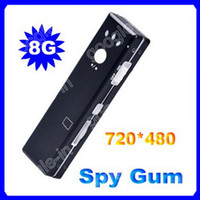 Wholesale 8G Card Hidden Gum Camera USB fps Spy Mini DVR Camcorder Video Audio Recorder Chewing Webcam