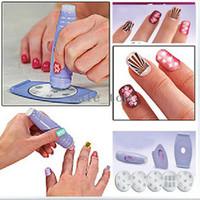 Nail Art Stamping Machine   Salon Nail Art Express Decals Stamp Stamping Polish Design Kit Set Decoration[00040104]