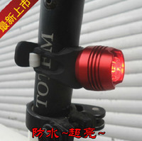 Wholesale High quality Bright ruby bicycle taillight aluminum CNC bicycle helmet lights warning lights monocular