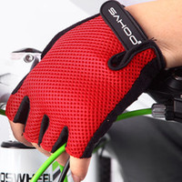 Wholesale MTB Road Mountain Bicycle Bike Cycling cycle Fingerless half finger glove riding motorcycle glove bike accessories Parts Red