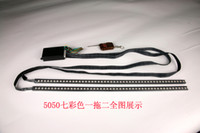 Strips Universal rgb 2 pieces 7 colors 48LED 5050 Waterproof Car Truck Bike Knight Rider Flash Strobe Scanner LED Flexible Strip auto lights