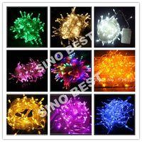 Wholesale Holiay Outdoor RGB LED String Lights M V V EU plug Christmas Xmas Wedding Party Decorations Garland lamps