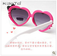 Wholesale Child heart shaped sunglasses love male female child sun shading mirror sun glasses