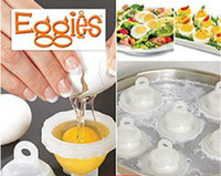 Wholesale Eggies Hard Boil Egg Cooker Eggies with Bonus Egg White Separator New ID