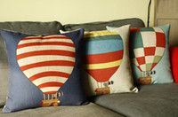 Wholesale 45cm cm Balloon linen cotton cushion pillow office sofa cushion cover pillows decorate