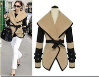 Wholesale New Hot Fashion Cozy Women Military Victorial Clothes Cape Outwear Big Turn Down Winter Coat SF08