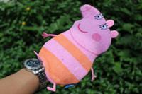 Wholesale Low price New Arrival Peppa Pig George Pig Bath Glove Bath Wash Mitts Baby Bathing Supplies cm