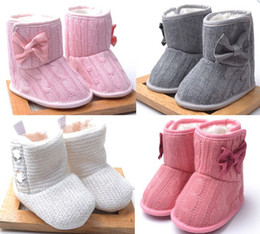 Wholesale 30 OFF NEW Factory Outlet Thickening Tall wool bow toddler boots baby wear shoes sale kid shoes cheap pairs L