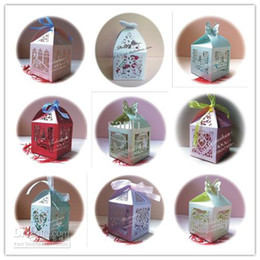 Wholesale Wedding Favor candy Boxes High grade creative hollow out joyful wedding gift box elegant joyful packaging