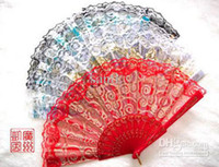Wholesale High grade Single rose wooden folding fan Gift Sandalwood fan bridal fan handy fan hand fan