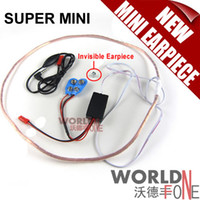 Wholesale 50pcs World smallest Super Mini Hidden Earpiece Wireless FBI Earpiece Spy Earphone mobile Phone Earpiece by FEDEX DHL