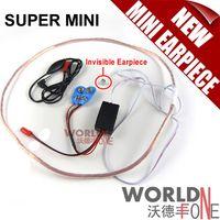 Wholesale World smallest Super Mini Hidden Earpiece Wireless FBI Earpiece Spy Earphone mobile Phone Earpiece by FEDEX DHL