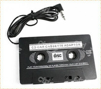 Wholesale NEW CAR CASSETTE TAPE ADAPTER FOR MP3 MP4 IPOD NANO CD PLAYER MD in retail pack