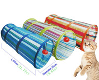 Wholesale Cat Tunnel Crinkle Pet Toys With Ring Bell Kitten Play Toy Collapsible Colorful